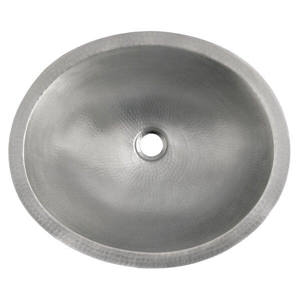 Classic Metal Oval Undermount Bathroom Sink