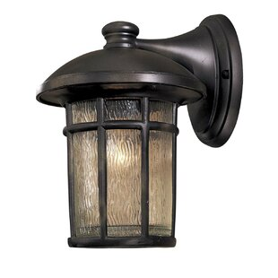 Deals Cranston 1-Light Outdoor Wall Lantern By Great Outdoors by Minka