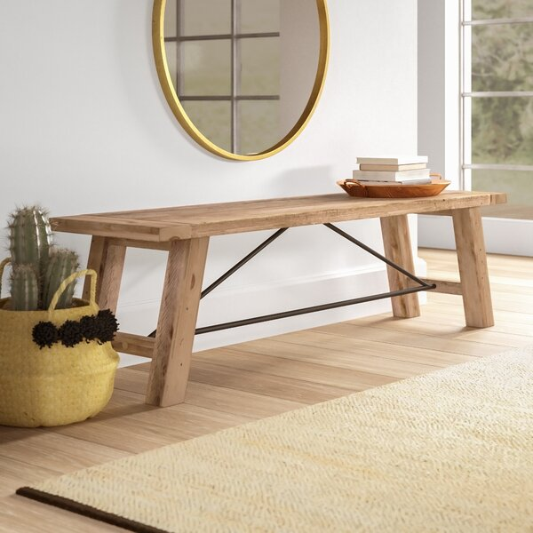 Maiorano Wood Bench by Mistana