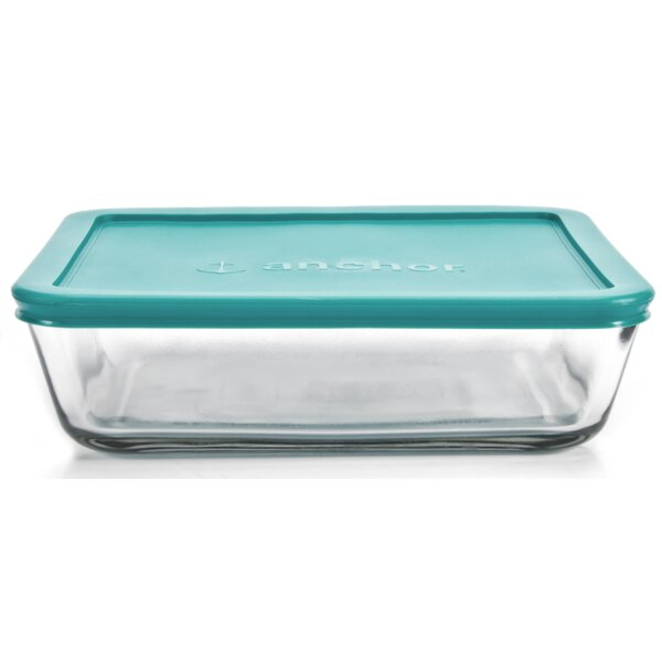 Rectangular Kitchen 48 Oz. Food Storage Container (Set of 4) by Anchor Hocking