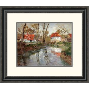 'The Dairy at Quimperle' by Frits Thaulow Framed Painting Print by Global Gallery