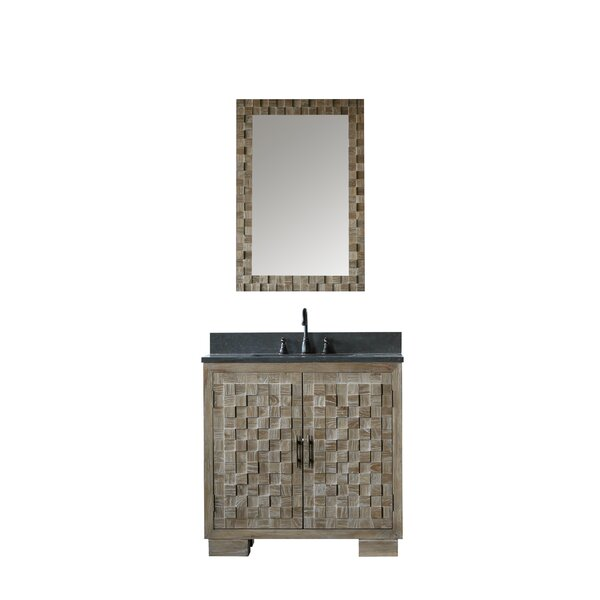 Benicia Solid Elm 36 Single Bathroom Vanity And Mirror by Bay Isle HomeBenicia Solid Elm 36 Single Bathroom Vanity And Mirror by Bay Isle Home