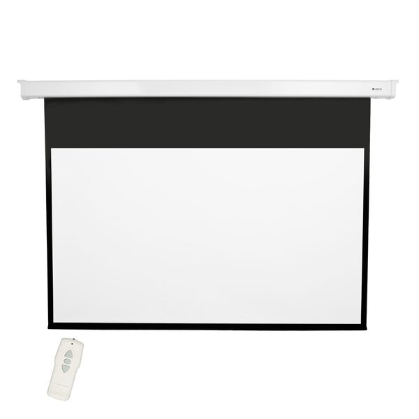 High Contrast Grey 92 diagonal Electric Projection Screen by Loch