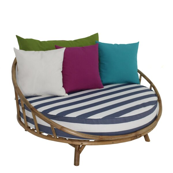 Olu Large Patio Daybed with Cushions by Bayou Breeze