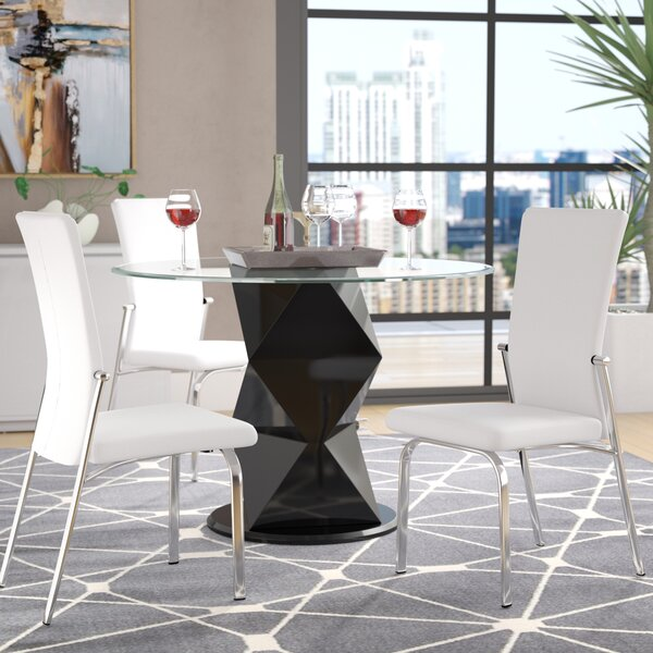 Sinegal Upholstered Dining Chair (Set of 2) by Wrought Studio
