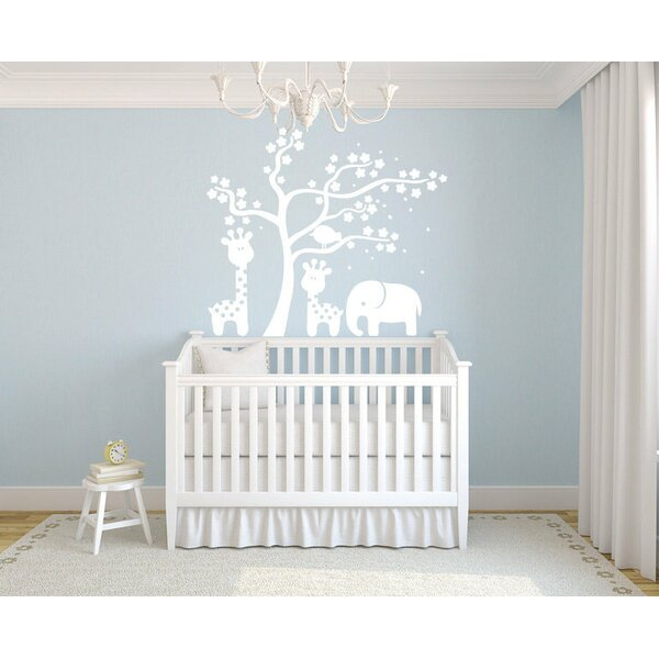 Harriet Bee Mount Pleasant Giraffes Elephant And Tree Wall Decal - How to put up a tree wall decal