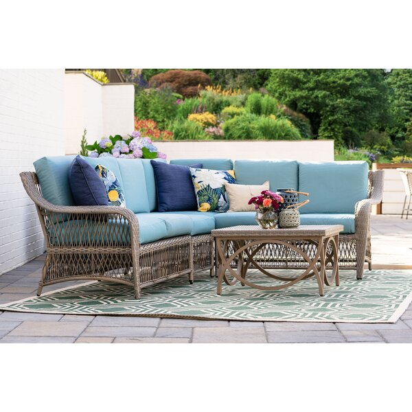Kew Gardens 5 Piece Sectional Seating Group with Cushions by Bayou Breeze