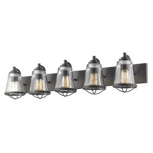 Price comparison Crowder 5-Light Vanity Light By Breakwater Bay