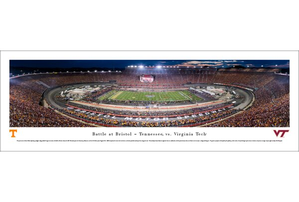 NCAA Battle at Bristol TN vs Vtech Football Photographic Print by Blakeway Worldwide Panoramas, Inc