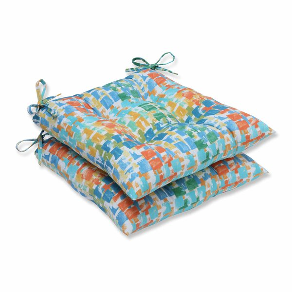 Quibble Sunsplash Indoor/Outdoor Dining Chair Cushion (Set of 2) by Pillow Perfect