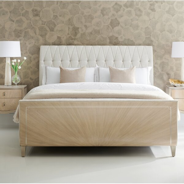 Diamond Jubilee Upholstered Sleigh Bed by Caracole Classic