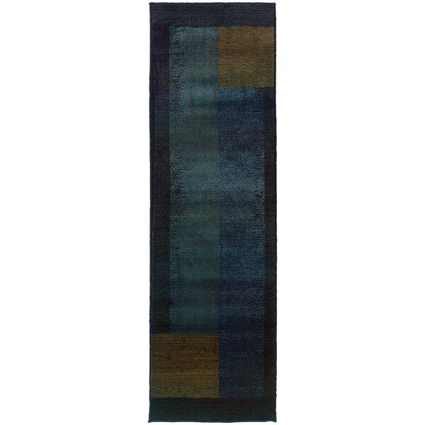 Hinson Blue/Gold Area Rug by Latitude Run