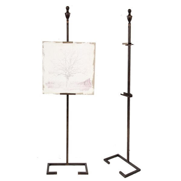 Metal Art Display Stand with Finial Top Easel by Benzara