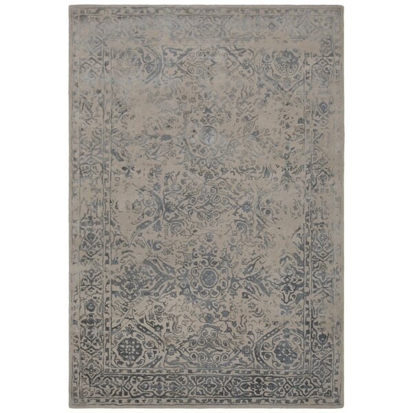 Pappalardo Hand-Tufted Beige/Blue Area Rug by One Allium Way