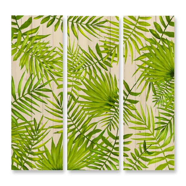 Dreaming of the Tropics Triptych 3 Piece Graphic Art Print Multi-Piece Image on Wood Set by Benjamin Parker Galleries