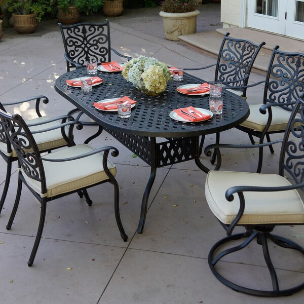 Archway Traditional 7 Piece Dining Set with Cushions by Astoria Grand