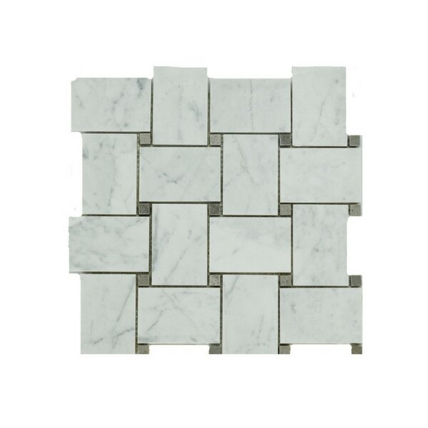 Liam Marble Mosaic Tile in Gray by A Touch of Design
