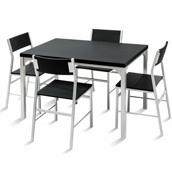 Catalina 5 Piece Dining Set by Ebern Designs