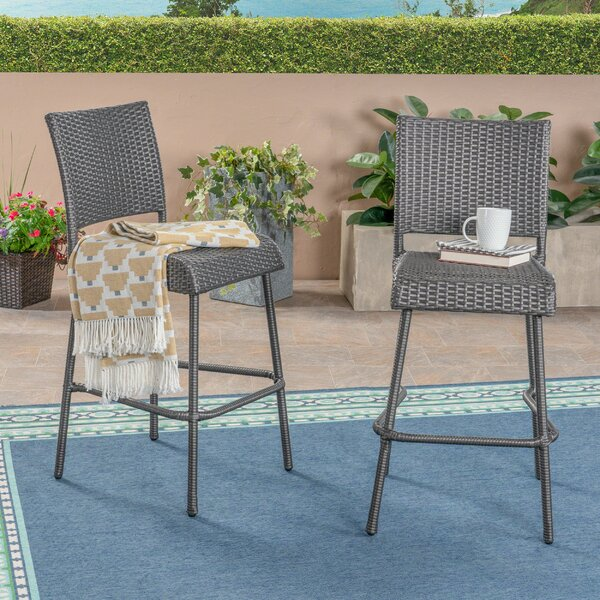 Kampmann 43.25 Patio Bar Stool by Highland Dunes