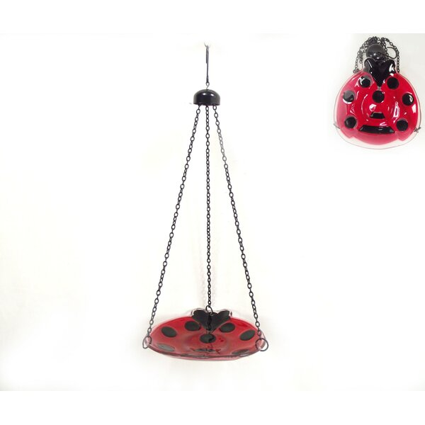 Ladybug Birdbath by Continental Art Center