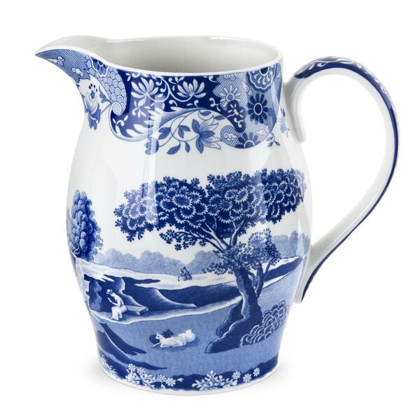 Blue Italian 3 5 Pint Pitcher By Spode.