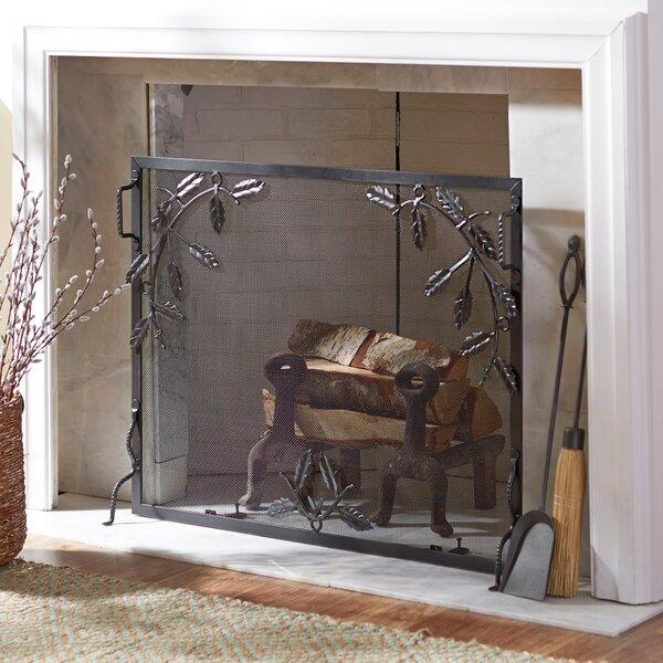 Retta Single Panel Iron Fireplace Screen By Fleur De Lis Living