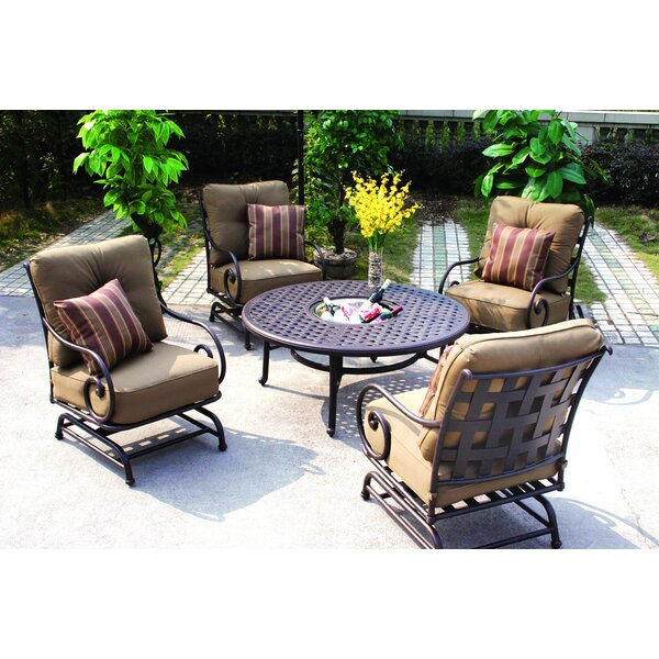 Lenhardt Spring Base Patio Dining Chair with Cushion by Alcott Hill