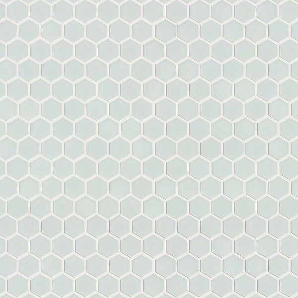 Sophisticated 0.7 x 0.7 Porcelain Mosaic Tile in White by Shaw Floors