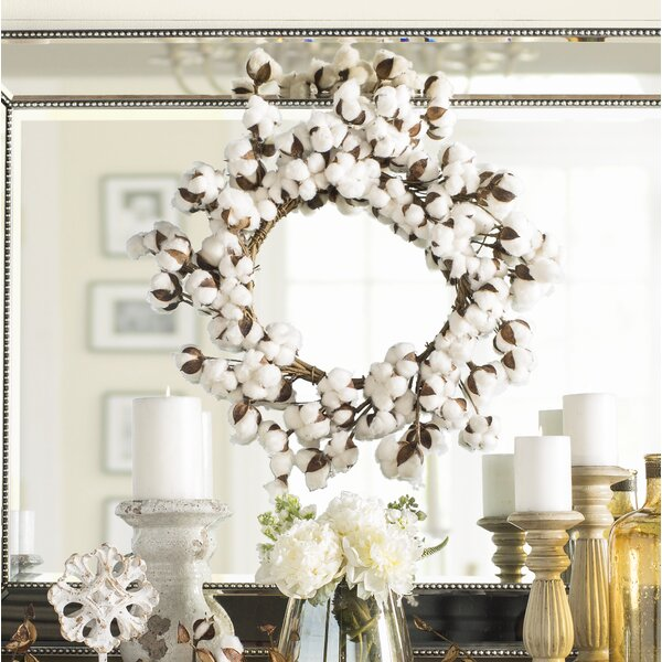 Cotton 22 Wreath by August Grove