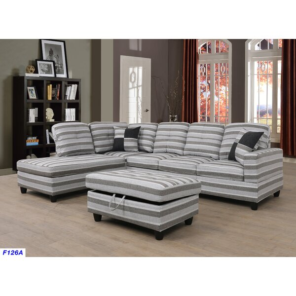 Jaylin Sectional with Ottoman by Ebern Designs