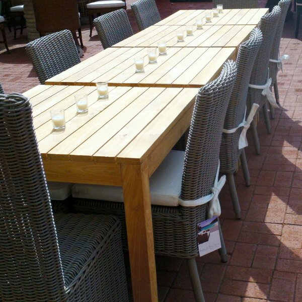 Eger Outdoor Bay Harbor Solid Wood Dining Table by Highland Dunes