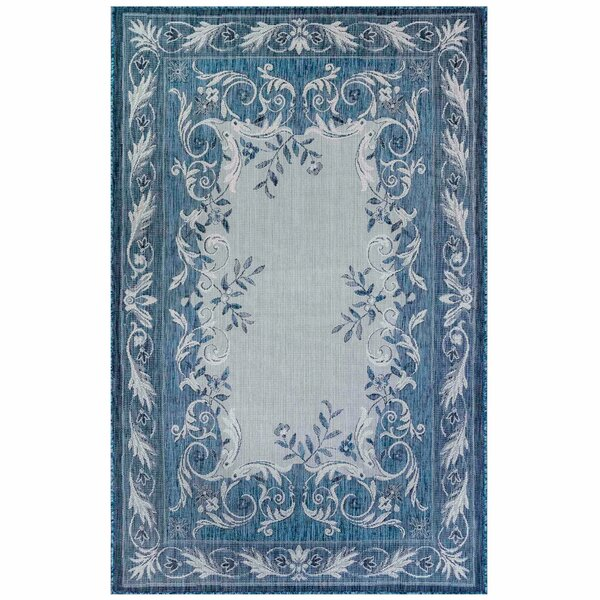 Arverne Aubusson Navy Indoor/Outdoor Area Rug by Charlton Home