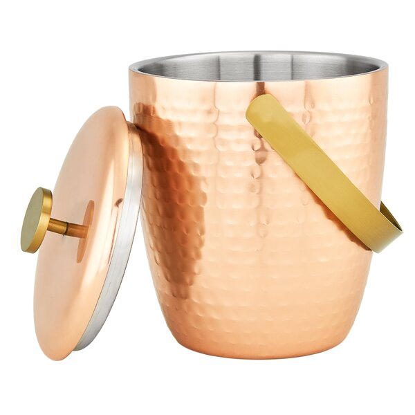 Aura Hammered Double Walled Ice Bucket By Old Dutch International.