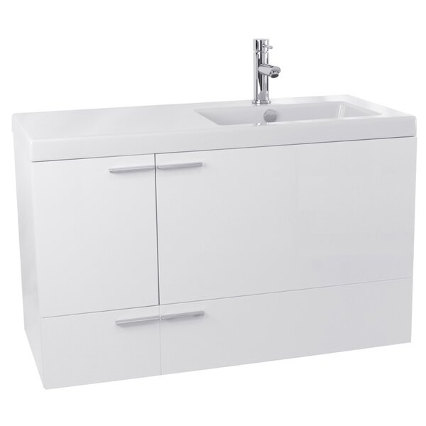 New Space 31 Wall-Mounted Single Bathroom Vanity Set by Nameeks Vanities