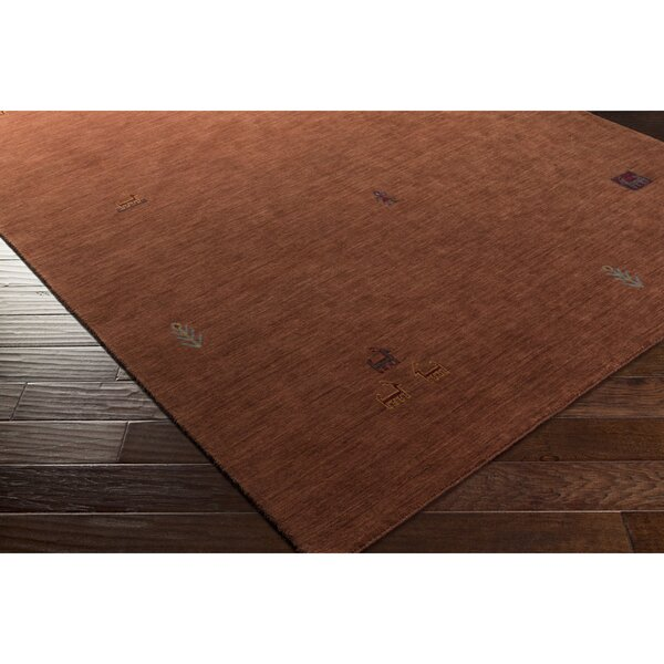 Taylor Cove Hand-Knotted Red Area Rug by Loon Peak