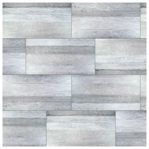 Aetolia Grand 17.63 x 35.38 Porcelain Field Tile in Gray by EliteTile