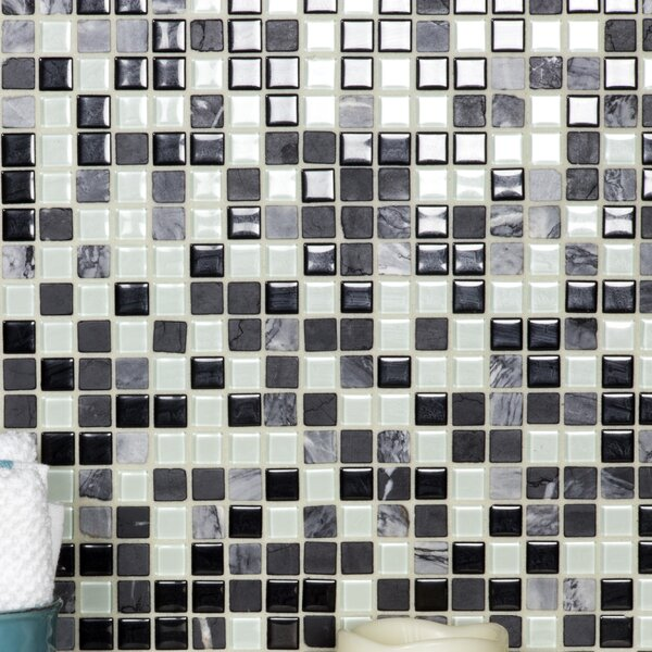 Crystal Stone 0.63 x 0.63 Glass Mosaic Tile in Glazed Dreamer by Abolos