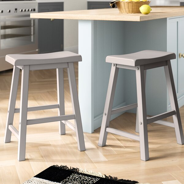 Sharman Counter Height 24 Bar Stool (Set of 2) by