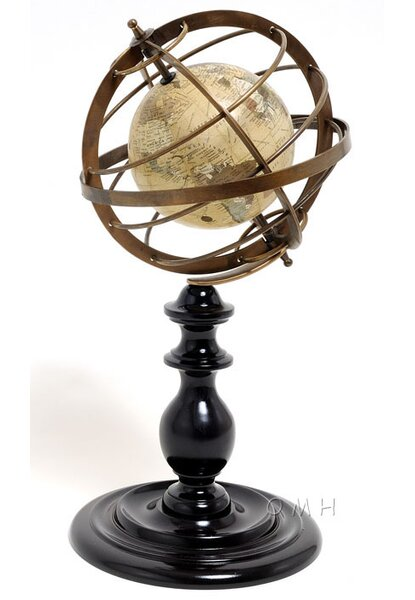 Globe in Brass Rings by Old Modern Handicrafts