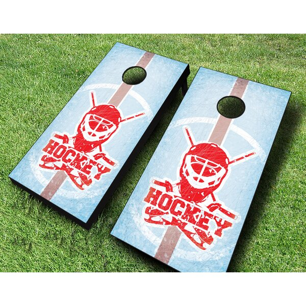 Ice Hockey Cornhole Set by AJJ Cornhole