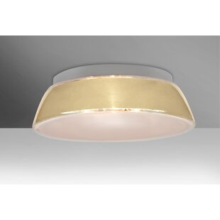 Bargain Pica 3-Light Outdoor Flush Mount By Besa Lighting