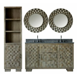 Claris 82 Double Bathroom Vanity Set with Mirror by Bungalow Rose