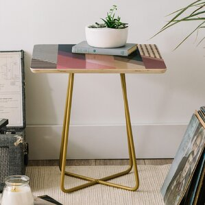 Mareike Boehmer Geometry Blocking 9 End Table by East Urban Home