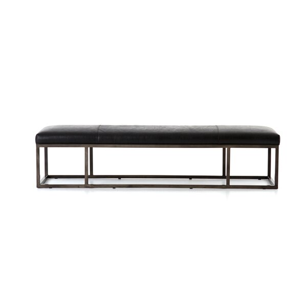 Scaife Leather Bench by Union Rustic Union Rustic