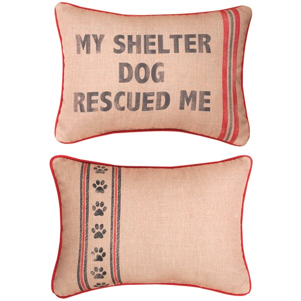 My Shelter Dog Lumbar Pillow by Manual Woodworkers & Weavers