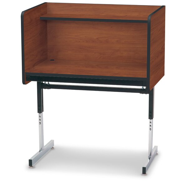 Manufactured Wood 47 Study Carrel by Smith Carrel