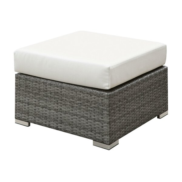 Hinkle Outdoor Wicker Ottoman by Rosecliff Heights