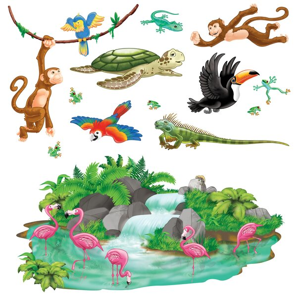 Tropical Props Wall Decal by The Beistle Company