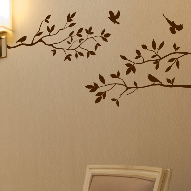 Tree Branches with Birds Wall Decal  sc 1 st  Wayfair & Innovative Stencils Tree Branches with Birds Wall Decal u0026 Reviews ...