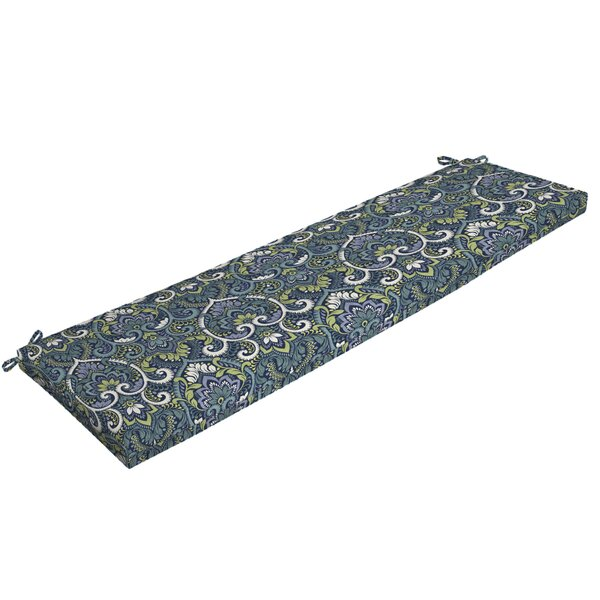 Damask Outdoor Bench Cushion by Bloomsbury Market